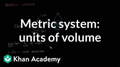 metric system units  volume  grade khan academy