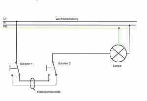 Bewegungsmelder Mit Schalter Für Dauerlicht : wechselschaltung mit doppelschalter elektrik licht schaltplan ~ Orissabook.com Haus und Dekorationen