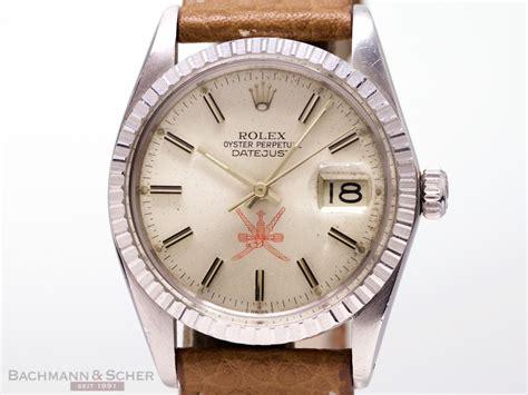rolex vintage datejust ref  qaboos oman stainless