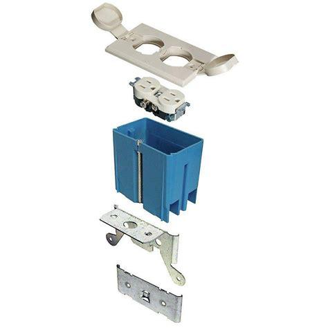 Carlon Floor Box Home Depot by 1 21 Cu In Adjustable Floor Box Ivory B121bfbrr