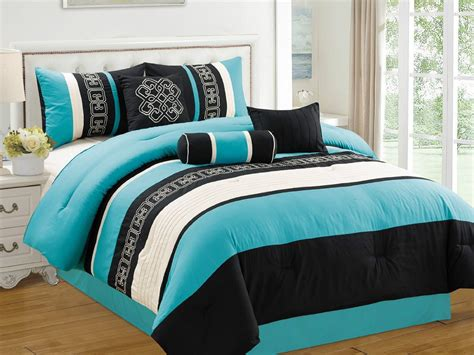 Black And Aqua Bedding by Black White And Turquoise Bedding Sets
