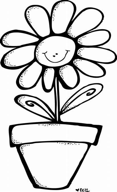 Melonheadz Spring Flower Coloring Clipart Clip Smile