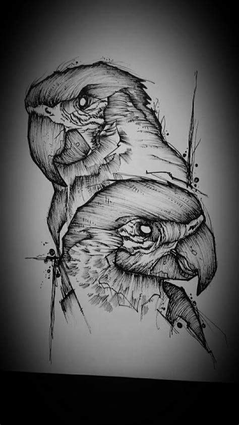 cute parrot tattoo designs