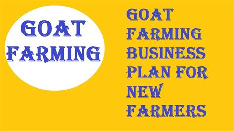 You are sure to fast rather, goat farming become a money making machine if you turn it to business. Goat Farming Business Plan for New Farmers | Business plan template, Business planning, Farm ...