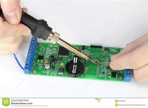 Repairing Printed Circuit Board Stock Photo Image