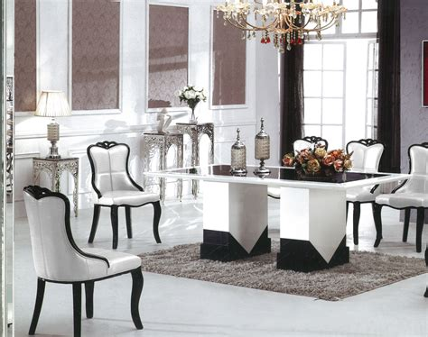 black and white table l barcelona marble dining table with 8 chairs marble king