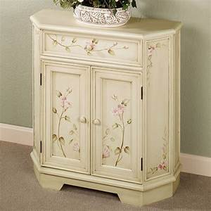 Bianca antique white floral storage cabinet for Kitchen colors with white cabinets with carved tree wall art