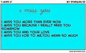 'i miss u' - Bitstrips