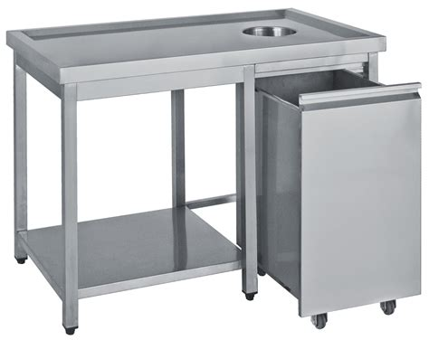 Fish Cleaning Table With Sink by Table With Hole For Rubbish Bambas Frost Commercial