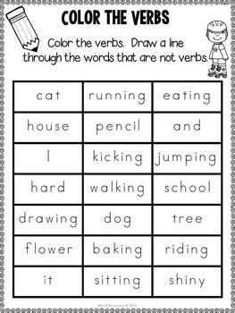 verb worksheets    lesson teachers pay teachers