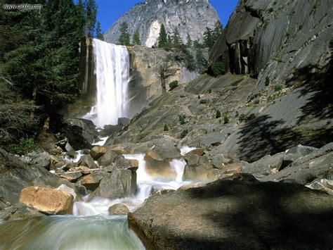 Nature Vernal Falls Yosemite National Park California