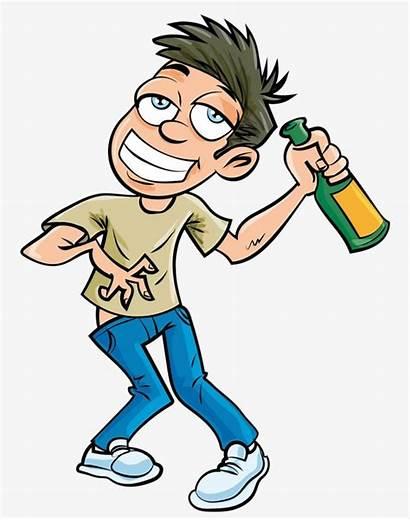 Cartoon Wine Bottle Clipart Drunken Character Illustration