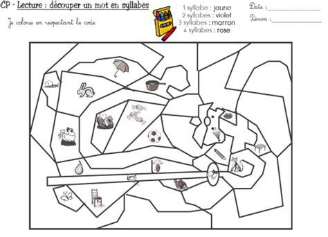 coloriage magique cp lecture syllabes ecole pinterest