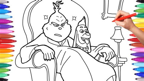 illumination  grinch coloring pages   draw