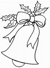 Coloring Christmas Pages Bells sketch template