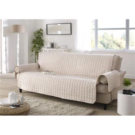 housse de canape 3 places et fauteuils protege canape 3 places ivoire achat vente housse de