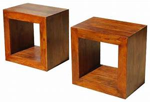 solid wood block coffee table book shelf bed side table With solid block wood coffee table