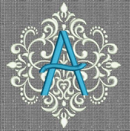 elegant damask monogram sewing embroidery designs