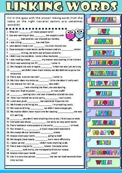 linking words  esl  efl learners exercises
