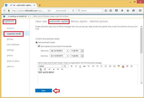 Office 365 Mail Auto Reply by Administrator Setting A Users Automatic Reply Details