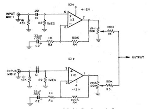 Schematic Diagram Of Microphone Preamplifier