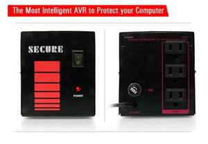 Heat Sink Fan by Avr Secure 3 Outlet With 220v Max Capacity 50va 500