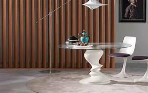 Roche bobois table blanche ronde en verre sismic photo for Roche bobois salle À manger pour petite cuisine Équipée