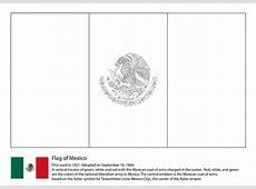 Ausmalbild MexikoFlagge Ausmalbilder kostenlos zum