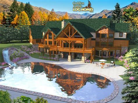 luxury log homes log cabin mansion homes log mansion floor plans treesranchcom