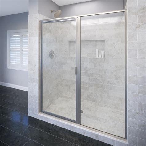 basco shower door basco deluxe 59 in x 68 5 8 in framed pivot shower door