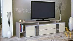 Tv Lowboard Glas : tv board lowboard sideboard tisch lissabon cappuccino hochglanz naturt ne ebay ~ Whattoseeinmadrid.com Haus und Dekorationen