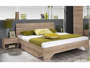 Lit But 160x200 : lit 160x200 avec 2 chevets bacchus tidy home ~ Teatrodelosmanantiales.com Idées de Décoration