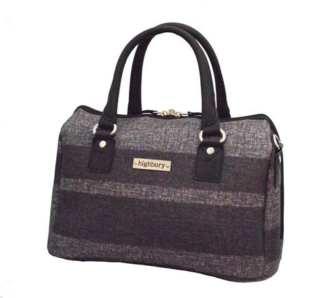 Vanity Luggage - highbury small travel vanity bag grey stripe