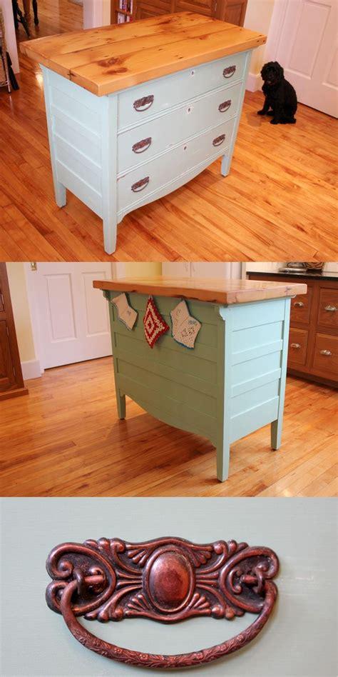 repurposed dresser kitchen island dresser to kitchen island repurpose ideas refurbished ideas 4770