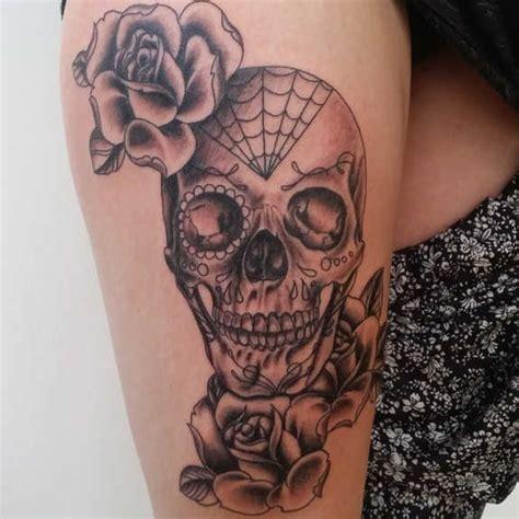 supreme skull rose tattoos gun candy