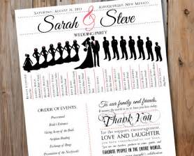 wedding program fans diy wedding program with wedding party silhouettes by