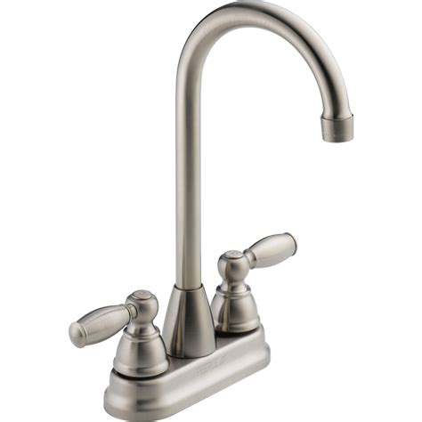 peerless kitchen faucets reviews shop peerless stainless 2 handle bar and prep faucet at