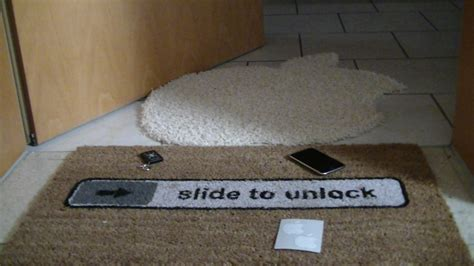 Slide To Unlock Doormat by Doormat Slide To Unlock Getdigital
