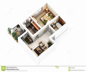 3d floor plan stock illustration Image of above