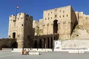 architektur fassade aleppo altstadt arabien arabisch architektur bastion berühmten blauer himmel fassade