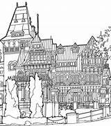 Mansion Coloring Pages Print из категории все раскраски sketch template