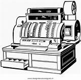 Register Cash Cassa Registratore Coloring Misti Clipart Disegno Condividi sketch template