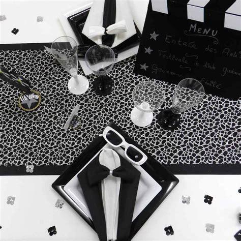 confettis de table cin 233 ma noir argent d 233 co mariage anniversaire f 233 ezia