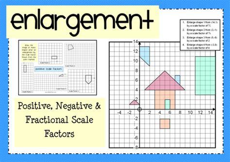 enlargement positive negative fractional scale