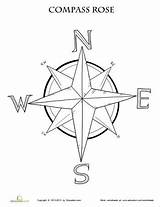 Compass Rose Coloring Map Worksheet Maps Printable Pages Grade Worksheets Activities Education 3rd Learning Skills Pirate Teaching Template Adult Lesson sketch template