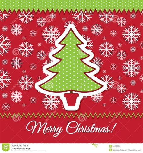 christmas tree greeting card design stock vector image
