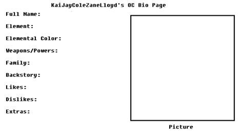 oc bio template oc bio page by kaijaycolezanelloyd on deviantart