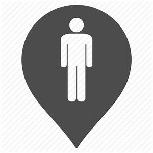 Flag, male restroom, man, map pointer, marker, pin, toilet ...