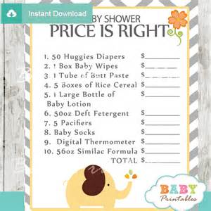 Alligator Baby Shower Invitations by Yellow Elephant Baby Shower Games Bundle D107 Baby
