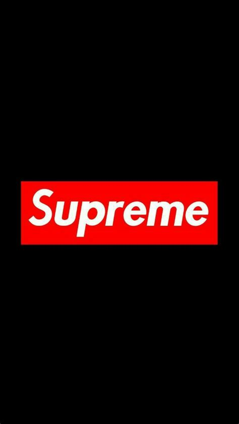 supreme black wallpaper iphone android